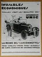 1929 Automobiles UNIC Puteaux D'après Jean A. Mercier (Affiches Lutetia) - Biscuits Huntley & Palmers - Publicité - Werbung