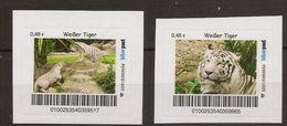BRD - Privatpost - Biberpost - Katzen Cats -  Weißer Tiger (Panthera Tigris) - 2 Werte - [7] Federal Republic