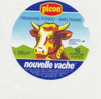 Y 606 /   ETIQUETTE DE FROMAGE - PICON  NOUVELLE VACHE    16 PORTIONS - Käse