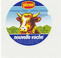 Y 607 /   ETIQUETTE DE FROMAGE - PICON  NOUVELLE VACHE    8 PORTIONS - Käse