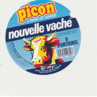 Y 609 /   ETIQUETTE DE FROMAGE - PICON  NOUVELLE VACHE    8 PORTIONS - Käse