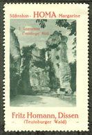 """Dissen Teutoburger Wald 1913 """"Fritz Homann Margarine Bild: Externsteine Bad Meinberg """"  Vignette Cinderella Reklamemarke - Cinderellas"""