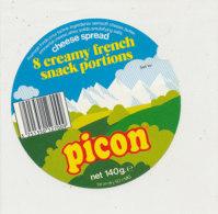 Y 617  /   ETIQUETTE DE FROMAGE  - PICON   CHEESE SPREAD  8 CREAMY FRENCH - Käse