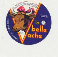Y 637 /   ETIQUETTE DE FROMAGE     LA BELLE VACHE   FINAS  ST FELIX Hte SAVOIE     8   PORTIONS - Käse