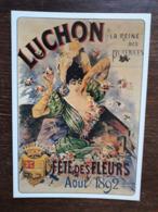 L27/1815 LUCHON . FETE DES FLEURS AOUT 1892 . Repro Affiche Ancienne - Luchon