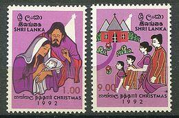 Sri Lanka ** N° 1010/1011 - Noël - Sri Lanka (Ceilán) (1948-...)