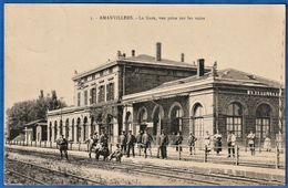 CPA 57 AMANVILLERS - La Gare, Vue Prise Sur Les Voies - France