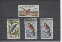 """MALI - Faune - Oiseaux - Surchargés """"REPUBLIQUE DU MALI"""" - Merle Améthiste, Aigle Bateleur, Gonolek - - Mali (1959-...)"""