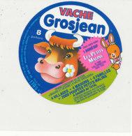 Y 655  /   ETIQUETTE DE FROMAGE   VACHE   GROSJEAN    8  PORTIONS LES PETITS MALINS - Fromage