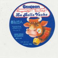 Y 657  /   ETIQUETTE DE FROMAGE   GROSJEAN  LA BELLE VACHE    8  PORTIONS - Fromage