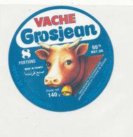 Y 662 /   ETIQUETTE DE FROMAGE   VACHE  GROSJEAN  8 PORTIONS  55 %   JURA - Fromage