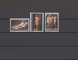 Equatorial Guinea 1991 Nude Paintings Goya, Dürer, Rubens Set Of 3 MNH - Nudes