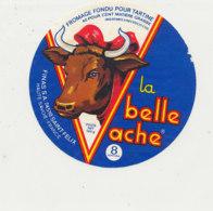 Y 667 /   ETIQUETTE DE FROMAGE   LA BELLE  VACHE  8 PORTIONS FINAS  SAINT FELIX Hte SAVOIE - Formaggio
