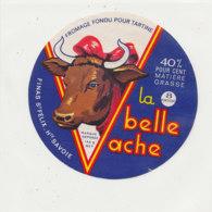 Y 668 /   ETIQUETTE DE FROMAGE   LA BELLE  VACHE  8 PORTIONS FINAS  SAINT FELIX Hte SAVOIE - Fromage