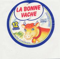 Y 670/   ETIQUETTE DE FROMAGE   LA BONNE  VACHE  12 PORTIONS - Fromage