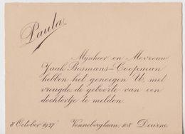 Deurne, Document De 1937. - Historische Dokumente