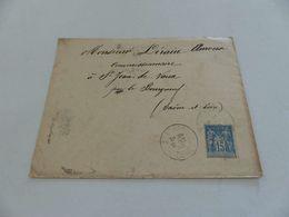 30 -  Type Sage , Lettre , Saint-Etienne à St Jean De Vaux ,  CAchet Lyon Et Macon GAre, 1900 - Postmark Collection (Covers)
