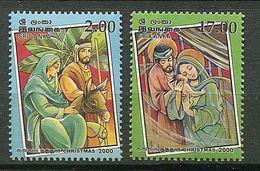 Sri Lanka ** N° 1249/1250 - Noël 2000 - Sri Lanka (Ceilán) (1948-...)