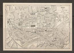 CARTE PLAN 1937 BAVIERE ULM - KARTE 1937 BAYERN - Topographical Maps
