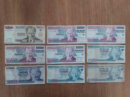 Lot De 9 Billets Turc - Turchia