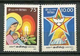 Sri Lanka ** N° 817/818 - Noël - Sri Lanka (Ceilán) (1948-...)