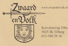 Zwaard En Volk - Tilburg - Nederland - Pays-Bas - Visiting Cards