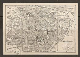 CARTE PLAN 1937 BAVIERE WURZBURG - KARTE 1937 BAYERN - Topographische Karten