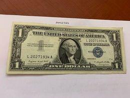 United States Washington Circulated Banknote Blue 1957 A #59 - Silver Certificates – Títulos Plata (1928-1957)