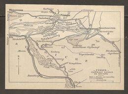 CARTE PLAN 1937 BAVIERE FUSSEN CHATEAUX ROYAUX - KARTE 1937 BAYERN FUSSEN ROYAL CASTLES - Topographical Maps