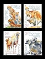 Poland 2020 Mih. 5211/14 Fauna. Small And Large Animals. Cheetahs. Kangaroo. Camels. Lemurs MNH ** - 1944-.... Republik