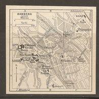 CARTE PLAN 1937 BAVIERE BAMBERG - KARTE 1937 BAYERN - Topographical Maps