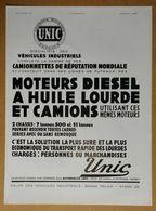 1931 Automobiles UNIC Puteaux Moteurs Diesel à Huile Lourde Et Camion... - Porte-habit De Louis Vuitton - Publicité - Pubblicitari