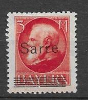 1920 MH Saargebiet, Mi  29 Expertisized - Nuevos