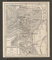 CARTE PLAN 1937 BAVIERE ROTHENBURG - KARTE 1937 BAYERN - Topographical Maps