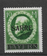 1920 MH Saargebiet, Mi  31 Expertisized - Nuevos
