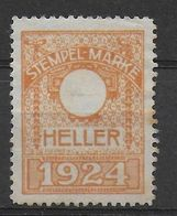 Österreich Revenue Stamp Stempelmarke Fiscal Proof Probe Essai 1924 - Revenue Stamps