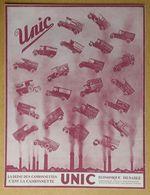 1928 Automobiles UNIC Puteaux La Reine Des Camionnettes (Georges Richard) - Publicité - Pubblicitari