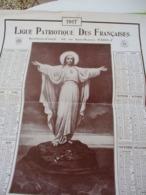 Grand Calendrier Uniface/Ligue Patriotique Des Françaises/Action Sociale Catholique/Sacré-Coeur Du Christ/1917   CAL469 - Calendars