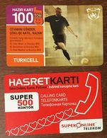 TURQUIE TURKCELL & SUPER ONLINE TELEKOM LOT DE 2 CARTES PRÉPAYÉE TELE CARD PHONE CARD TELECARTE - Turchia