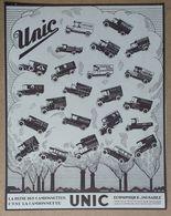 1932 Automobiles UNIC Puteaux La Reine Des Camionnettes (Georges Richard) - Publicité - Pubblicitari