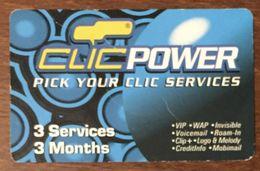 LIBAN CLIC POWER 3 SERVICES EXP 05/10/2005 PHONECARD PAS TELECARTE PREPAID PRÉPAYÉE - Libano