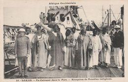 Dakar - Un Cuirassé Dans Le Port - Réception De Notables Indigènes  - Scan Recto-verso - Senegal