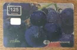 KAZAKHSTAN TELECARTE RAISINS CARTE TRANSPARENTE TELE CARD PHONE CARD - Kazakhstan
