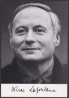 Oskar Lafontaine, Autogrammkarte Mit Unterschrift - Hommes Politiques & Militaires