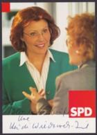 Heidemarie Wieczorek-Zeul, Autogrammkarte Mit Unterschrift - Hommes Politiques & Militaires