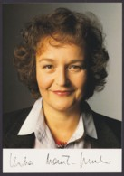 Dr. Herta Däubler- Gmelin, Autogrammkarte Mit Unterschrift - Hommes Politiques & Militaires