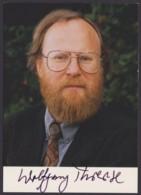 Wolfgang Thierse, Farbige Autogrammkarte Mit Unterschrift - Hommes Politiques & Militaires