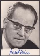 Herbert Wehner, Autogrammkarte Mit Unterschrift - Hommes Politiques & Militaires