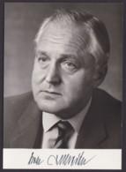Dr. Oscar Schneider, Autogrammkarte Mit Unterschrift - Hommes Politiques & Militaires