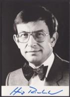 Dr. Heinz Riesenhuber, Autogrammkarte Mit Unterschrift - Hommes Politiques & Militaires